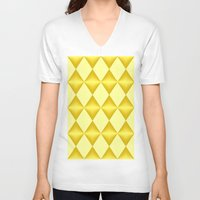 marina and the diamonds V-neck T-shirts featuring Abstract golden diamonds  by Zenya Zenyaris
