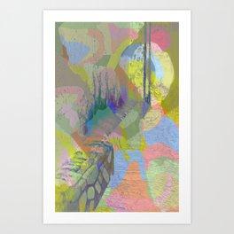 Color Waterfall Art Print