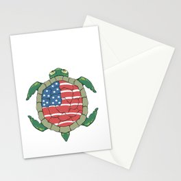 Like a turtle - Strong & Free Stationery Cards