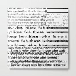 Shakespeare's quote Metal Print