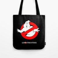 ghostbusters Tote Bags featuring Ghostbusters by IIIIHiveIIII