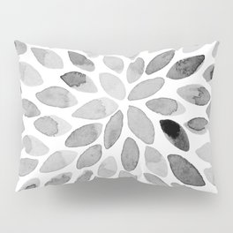 Watercolor brush strokes - black and white Pillow Sham