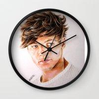 louis Wall Clocks featuring Louis  by Drawpassionn