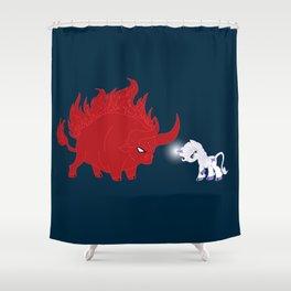 My Little Epic Battle Shower Curtain
