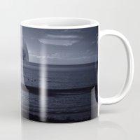 moonrise Mugs featuring Moonrise by Rhianna Power