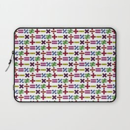 Seamless Colorful Abstract Mathematical Symbols Pattern VI Laptop Sleeve