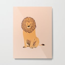 Lion's Mane Metal Print