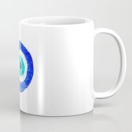 Single Evil Eye Amulet Talisman Ojo Nazar - on white Coffee Mug