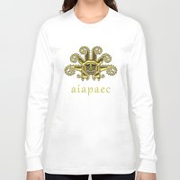 peru Long Sleeve T-shirts featuring Ancient Peru - Ai Apaec by Franco Olivera