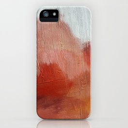 Desert Journey [2]: a textured, abstract piece in pinks, reds, and white by Alyssa Hamilton Art iPhone Case