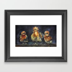 Rise of the Frizzel Chickens. Framed Art Print