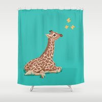 wonder Shower Curtains featuring Wonder by Laura