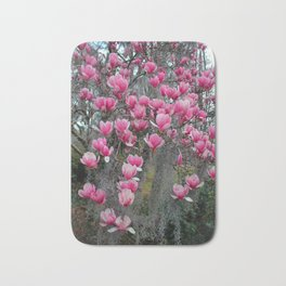 Beauty In Pink And Gray Bath Mat