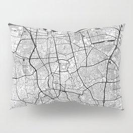 Jakarta Map Gray Pillow Sham