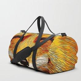 happy fox smiling v2 vector art Duffle Bag