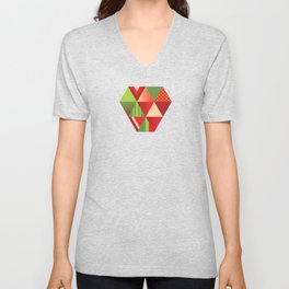 strawberry Unisex V-Neck