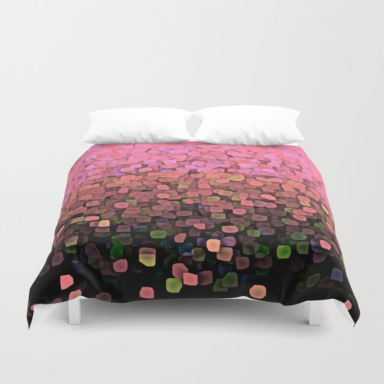 Sparkles and Glitter Pink Duvet Cover