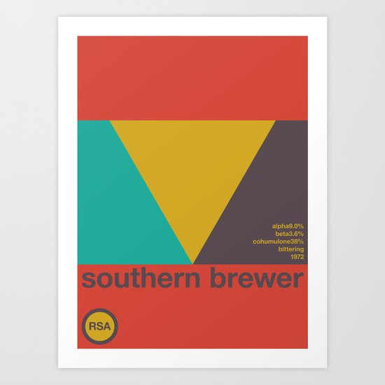 southern brewer single hop Art Print