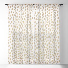 Gold Spots (gold/white) Sheer Curtain
