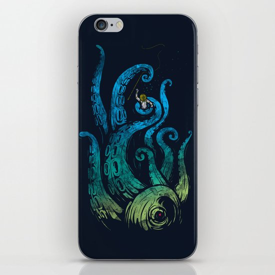 Undersea attack (neon ver.) iPhone & iPod Skin