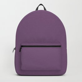 Viola Purple Simple Solid Color All Over Print Backpack
