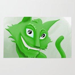 Kyrai - the green cat Rug