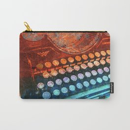 Typewriter Blue Red PopArt Carry-All Pouch