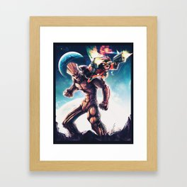 Galactic Battle Framed Art Print