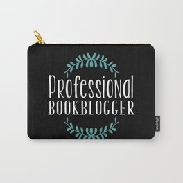 Professional Bookblogger - Black w Blue Carry-All Pouch
