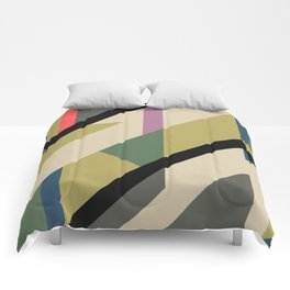 Modernist Dazzle Ship Camouflage Design Comforters