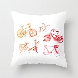 summer bikes Throw Pillow