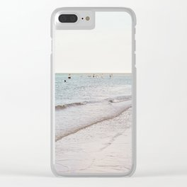 Beach day in Britain Clear iPhone Case