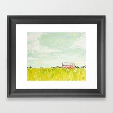 Oil painting house Framed Art Print
