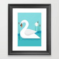 Majestic Swan Framed Art Print