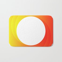 circle on fire Bath Mat