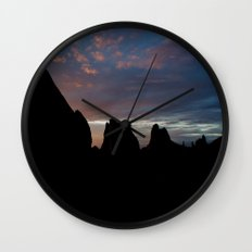 Sunrise Silhouette Wall Clock