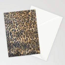 Leopard Cheetah Fur Wildlife Print Pattern Stationery Cards
