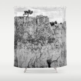 Pine tree on the cliff at Bryce Canyon Shower Curtain