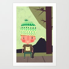kid playing in the streets Art Print
