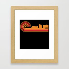 Retro Style Biloxi Mississippi Skyline Framed Art Print