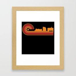 Retro Style Biloxi Mississippi Skyline Framed Art Print