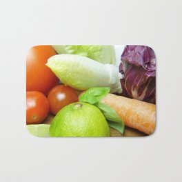 Fresh Vegetables - Restaurant or Kitchen Decor Bath Mat