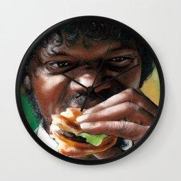 Tasty Burger Pulp Fiction Jules Winnfield Wall Clock