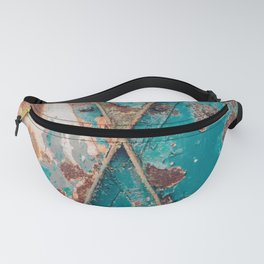 Teal and Rust Fanny Pack