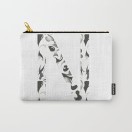N Hand Drawing in Black and White Carry-All Pouch