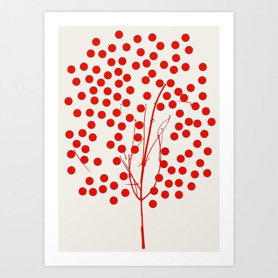 Tree of Life Red Art Print