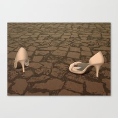 Abandoned Shoes Canvas Print