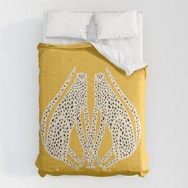 Snow Cheetahs Comforters