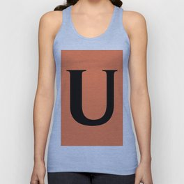 U MONOGRAM (BLACK & CORAL) Unisex Tank Top