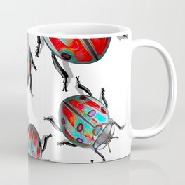 Flash Blue Lady Birds Coffee Mug